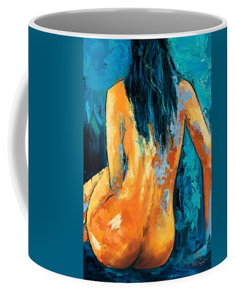 Nude Coffee Mug featuring the painting Mary Lou by Elise Palmigiani