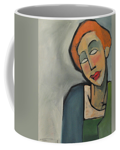 Woman Coffee Mug featuring the painting Mary Muses by Tim Nyberg