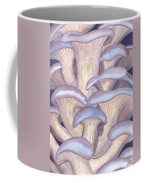 Mushroom Coffee Mug featuring the painting Mary Mushrooms by Catherine G McElroy