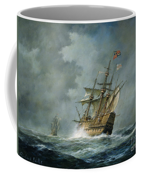 Mary Rose Coffee Mug featuring the painting Mary Rose by Richard Willis
