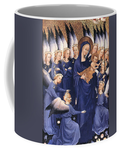 Paintings Coffee Mug featuring the painting Mary With Baby Jesus by Munir Alawi