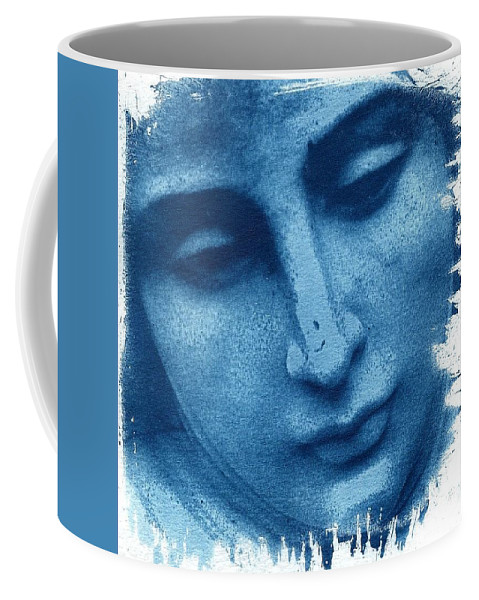 Blue Coffee Mug featuring the photograph Marys Blues by Jane Linders