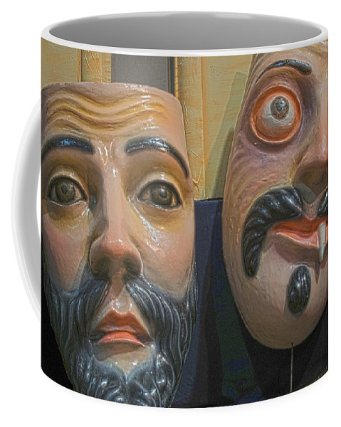 Mask Coffee Mug featuring the photograph Mascaras 5 by Totto Ponce
