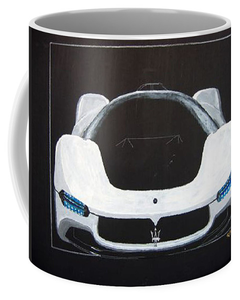 Car Coffee Mug featuring the painting Maserati Birdcage 75th Concept by Richard Le Page
