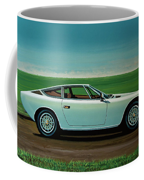 Maserati Khamsin Coffee Mug featuring the painting Maserati Khamsin 1974 Painting by Paul Meijering