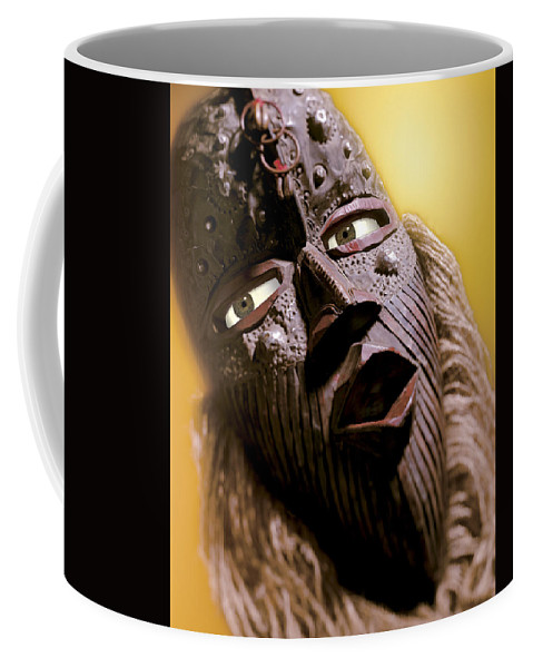 African Mask Coffee Mug featuring the photograph Mask by Kelley King