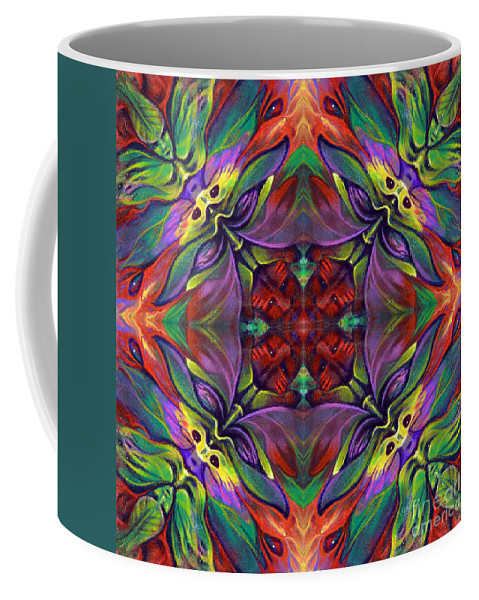 Rorshach Coffee Mug featuring the painting Masqparade Tapestry 7d by Ricardo Chavez-Mendez