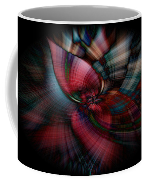 Abstract Coffee Mug featuring the digital art Masque by Michelle Whitmore