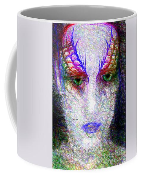 Art Coffee Mug featuring the digital art Masquerade 9571 by Rafael Salazar