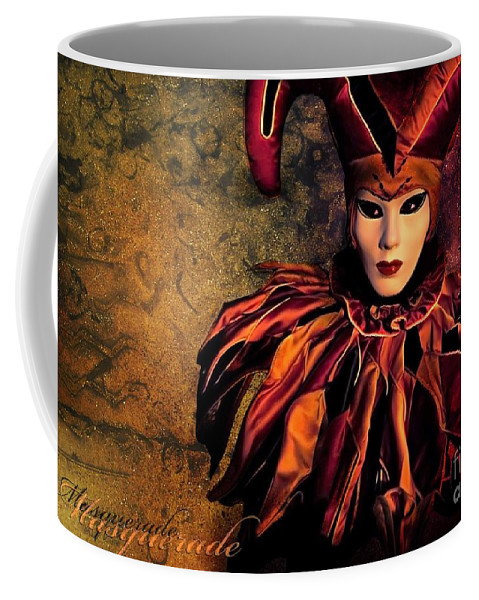 Mask Coffee Mug featuring the photograph Masquerade by Jacky Gerritsen