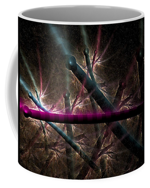 Fractal Coffee Mug featuring the digital art Matchstick Madness by Amorina Ashton
