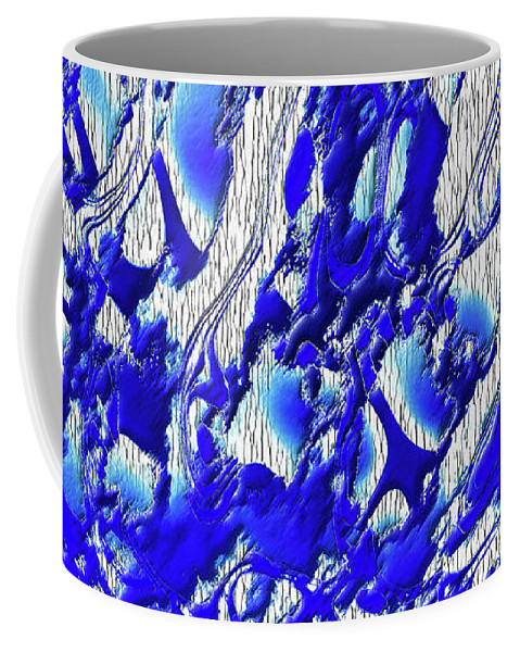 Material Evidence Coffee Mug featuring the photograph Material Evidence In Blue And White by Kellice Swaggerty