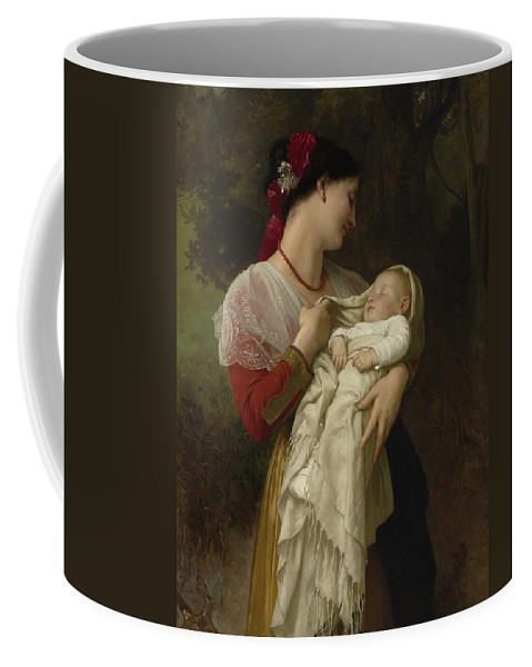 Painting Coffee Mug featuring the painting Maternal Administration by Mountain Dreams