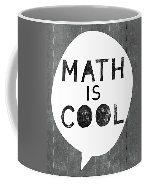 Math Coffee Mug featuring the digital art Math Is Cool- Art By Linda Woods by Linda Woods