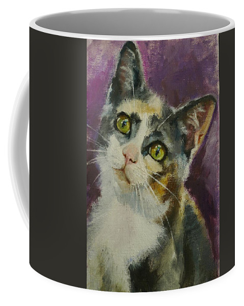 Cat Coffee Mug featuring the painting Matilda by Veronica Coulston