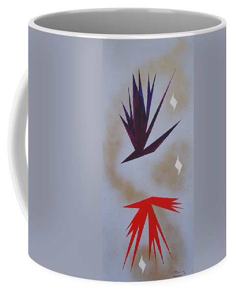 Birds Coffee Mug featuring the painting Mating Ritual by J R Seymour