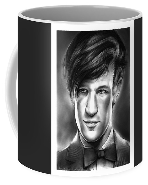 Matt Smith Coffee Mug featuring the drawing Matt Smith by Greg Joens