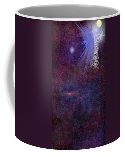 Angel Coffee Mug featuring the digital art Matthew Book 1 Twenty Four by Carly Stroman