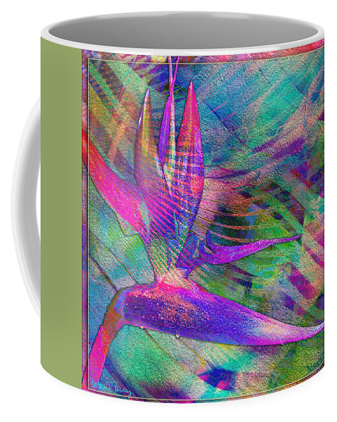 Maui Coffee Mug featuring the digital art Maui Bird Of Paradise by Barbara Berney