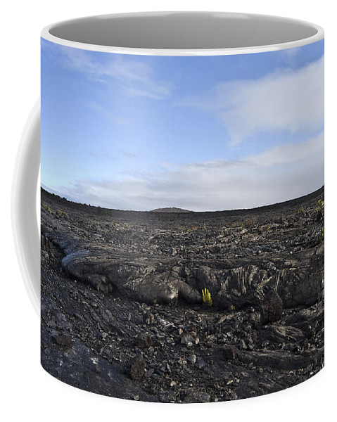 Mauna Loa Coffee Mug featuring the photograph Mauna Loa Lava by Robert Ponzoni