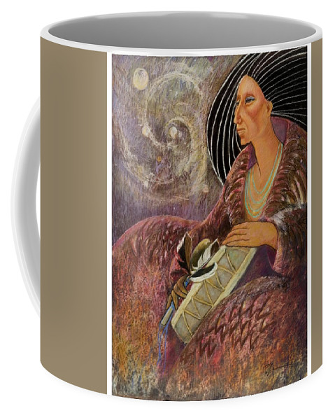 Drumming Music From The Spheres Coffee Mug featuring the pastel Mayan From Milky Way Gallacy by Pamela Mccabe