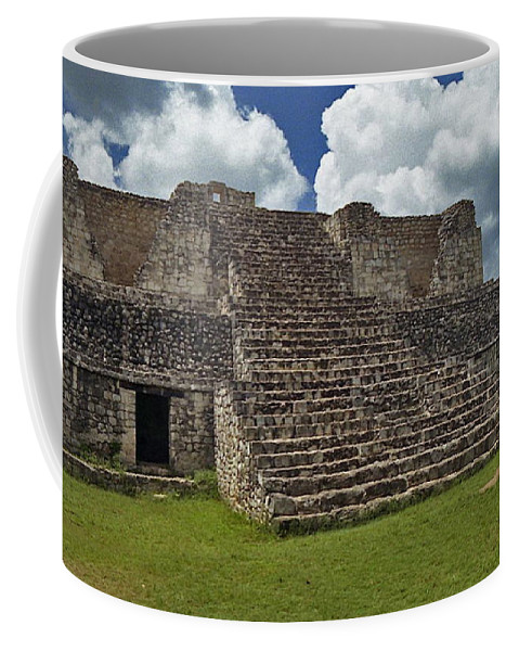 Mayan Coffee Mug featuring the photograph Mayan Ruins 2 by Michael Peychich