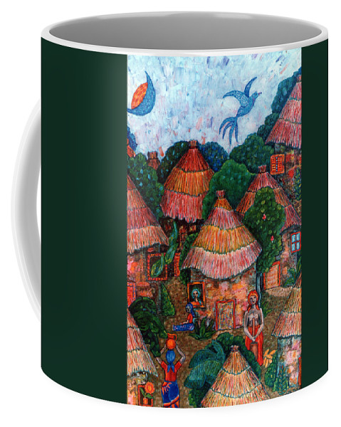 Africa Coffee Mug featuring the painting Maybe That Was My Country by Madalena Lobao-Tello