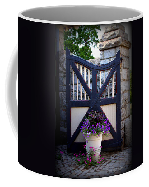 Maymont Coffee Mug featuring the photograph Maymont Gate by Tina Meador