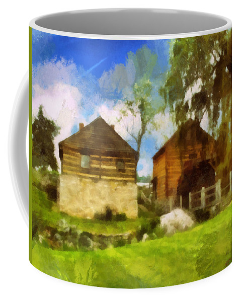 Mccormick Coffee Mug featuring the photograph Mccormick Mill by Paulette B Wright