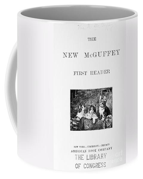 1901 Coffee Mug featuring the photograph Mcguffeys Reader, 1901 by Granger
