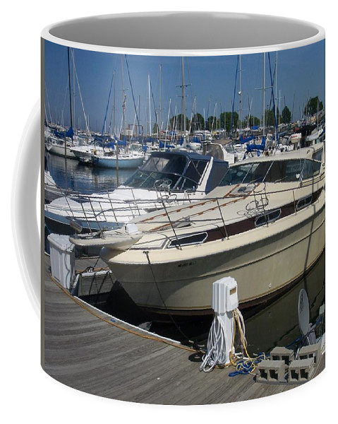Mckinley Marina Coffee Mug featuring the photograph Mckinley Marina 7 by Anita Burgermeister