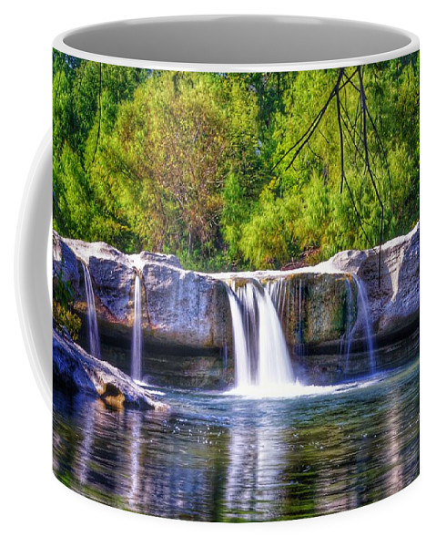 Austin Tx Coffee Mug featuring the digital art Mckinney Falls by Robert Clark