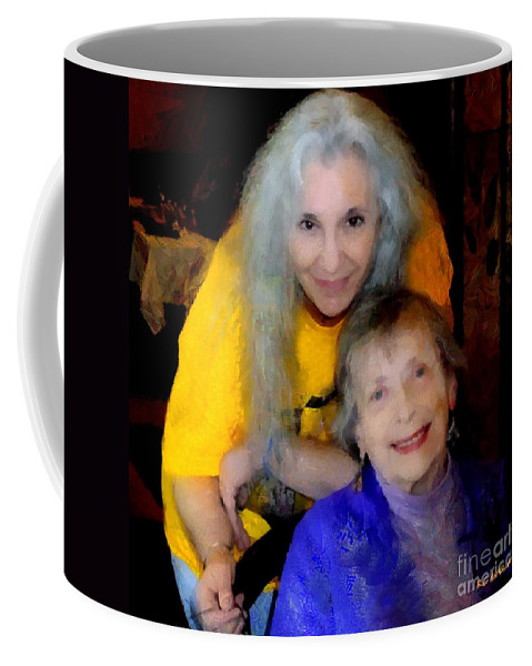 Colorful Coffee Mug featuring the painting Me And B by RC DeWinter