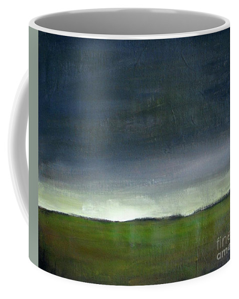 Landscape Coffee Mug featuring the painting Meadow At Sunset by Vesna Antic