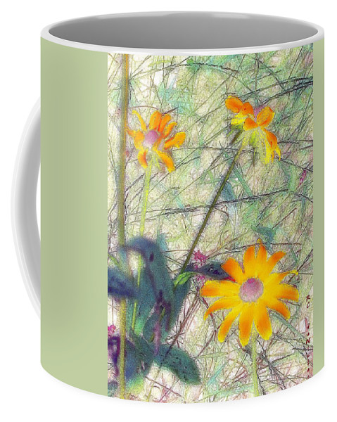 Bright Coffee Mug featuring the painting Meadow Out Loud by RC DeWinter