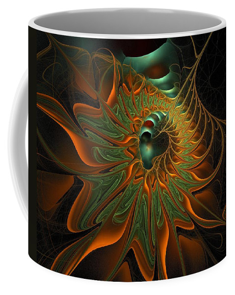 Digital Art Coffee Mug featuring the digital art Meandering by Amanda Moore