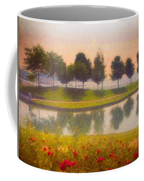 Trees Coffee Mug featuring the photograph Measured Reflections by Tara Turner