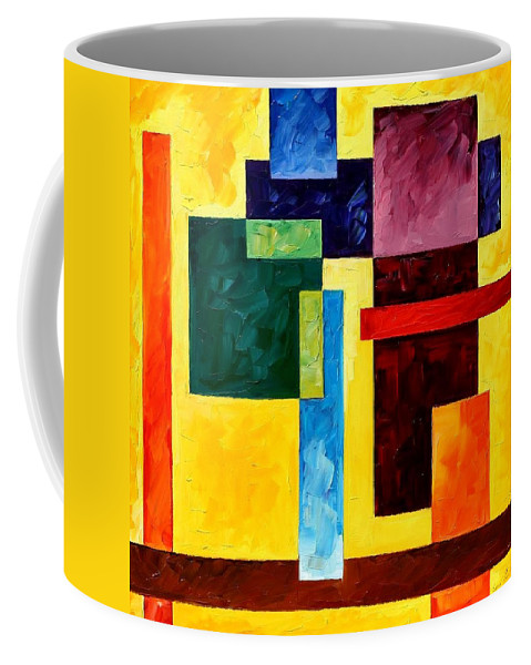 Afremov Coffee Mug featuring the painting Mechanical Suite by Leonid Afremov