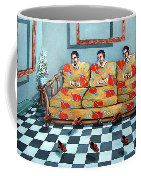 S Coffee Mug featuring the painting Meditation by Valerie Vescovi