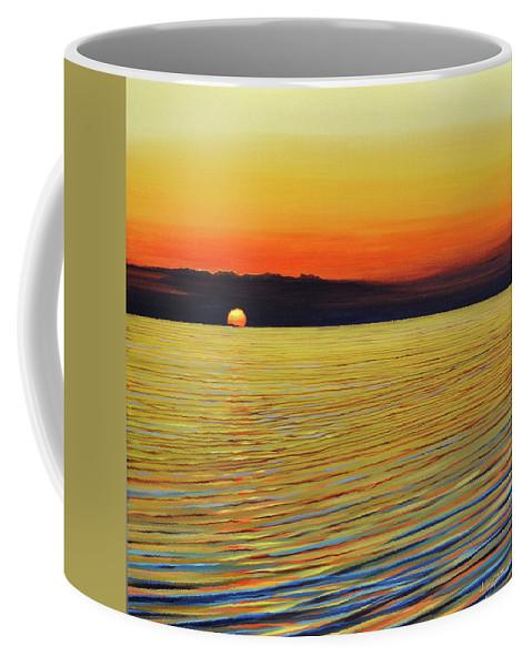 Mediterranean Coffee Mug featuring the painting Mediterranea by Hunter Jay