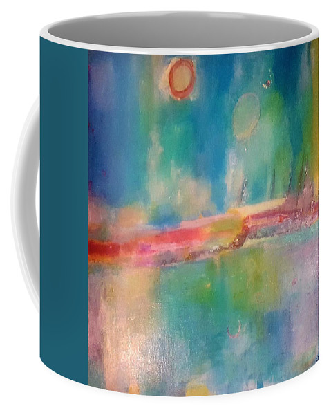 Abstract Coffee Mug featuring the painting Mediterranean Dream by Patricia Byron