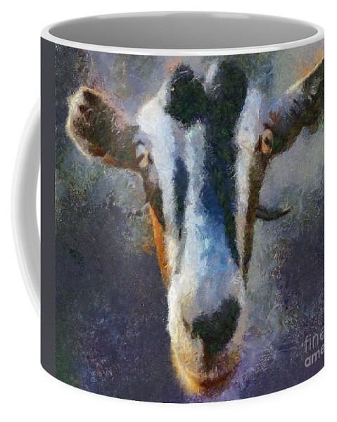 Expression Coffee Mug featuring the painting Mediterranean Goat by Dragica Micki Fortuna