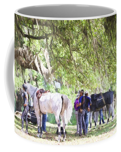 Horses Coffee Mug featuring the photograph Meet Me Under The Trees by Alice Gipson