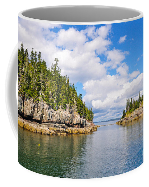 Maine Coffee Mug featuring the photograph Meeting Of The Islands by Anna Serebryanik