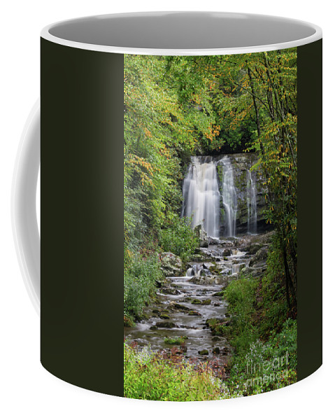 Appalachian Mountains. Tennessee Coffee Mug featuring the photograph Meig Falls 7 by Maria Struss