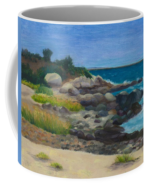 Landscape Coffee Mug featuring the painting Meigs Point by Paula Emery