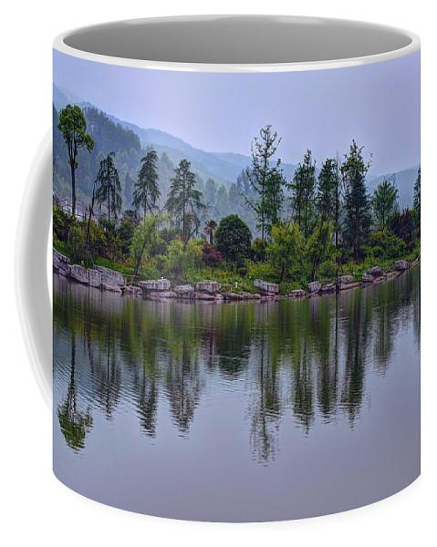 Meitan Coffee Mug featuring the photograph Meitan County Reflection - Guizhou, China by Rick Shea