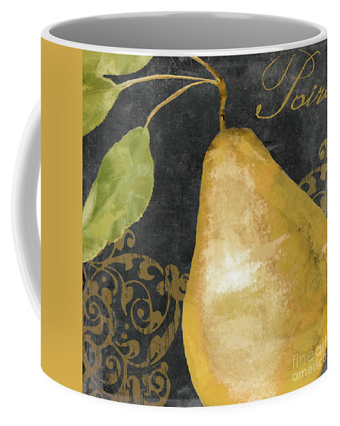 Pear Coffee Mug featuring the painting Melange French Yellow Pear by Mindy Sommers