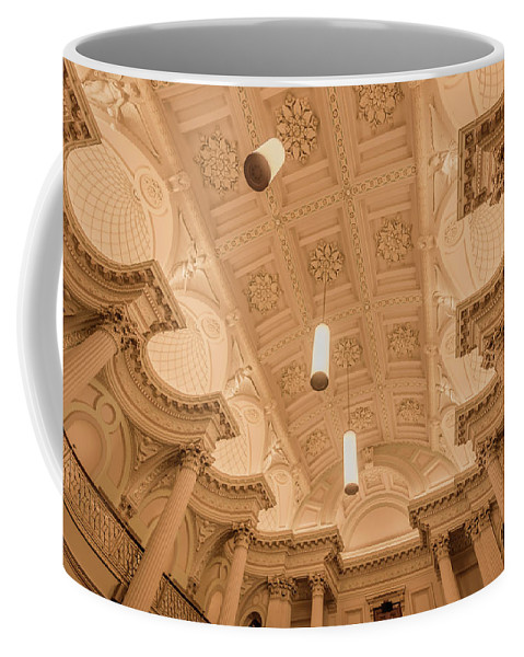 River Coffee Mug featuring the photograph Melbourne Architecture by Jijo George