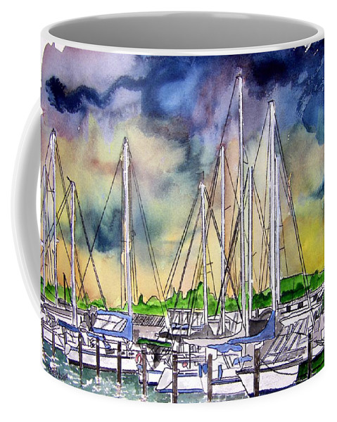 Boat Coffee Mug featuring the digital art Melbourne Florida Marina by Derek Mccrea